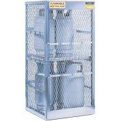 "Justrite Vertical, 8 Cylinder, Aluminum Storage Cabinet, 30""W x 32""D x 65""H"