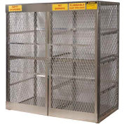 "Justrite Vertical, 16 Cylinder, Aluminum Storage Cabinet, 60""W x 32""D x 65""H"