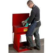 Justrite Floor Standing Rinse Tank, 11-Gallon, Red, 27110