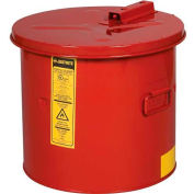 Justrite Dip Tank, 3-1/2-Gallon, Red, 27603