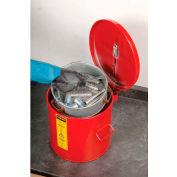 Justrite Wash Tank, 3-1/2-Gallon, w/ Basket, Red, 27713