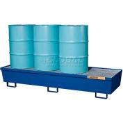Justrite® 28612 4 Drum Inline Pallet, Blue