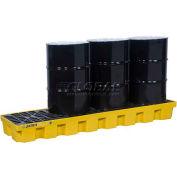 Justrite® 28632 4 Drum EcoPolyBlend™ Spill Control Inline Pallet & Drain