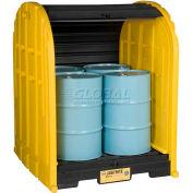 Justrite® 28676 4 Drum EcoPolyBlend™ DrumShed™