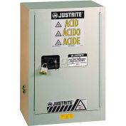 "Justrite 15 Gal. 1 Door,Self-Close, Left Hinge, Fume Hood Acid Cabinet, 24""x21-5/8""x35-3/4"",Neutral"