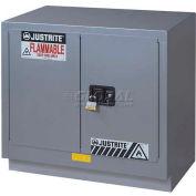 "Justrite 23 Gallon 2 Door, Manual, Under Fume Hood Cabinet, 36""W x 21-5/8""D x 35-3/4""H, Silver"