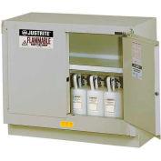 "Justrite 31 Gallon 2 Door, Manual, Under Fume Hood Cabinet, 48""W x 21-5/8""D x 35-3/4""H, Yellow"