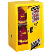 "Justrite 12 Gallon 1 Door, Self-Close, Compac, Flammable Cabinet, 23-1/4""W x 18""D x 35""H, White"
