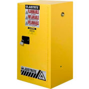 "Justrite 15 Gallon 1 Door, Self-Close, Compac, Flammable Cabinet, 23-1/4""W x 18""D x 44""H, White"