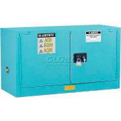 "Justrite 17 Gallon 2 Door, Self-Close, Piggyback, Acid Corrosive Cabinet, 43""W x 18""D x 24""H, Blue"