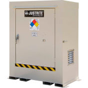 Justrite Non-Combustible Outdoor Chemical Storage Building 911020 - 2-Drum