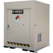 Justrite Non-Combustible Outdoor Chemical Storage Building 911040 - 4-Drum