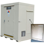 Justrite Non-Combustible Outdoor Chemical Storage Building 911161 - 16-Drum, Explosion Relief Panels