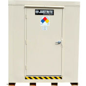 Justrite 4-Hour Fire-Rated Chemical Storage Building 913021 - 2-Drum, Explosion Relief Panels