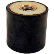 "Vibration Mount, 2 Tapped Holes, .39"" Dia, 10mm H, M4 x .7 Thread"