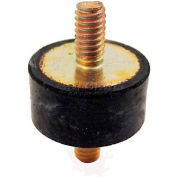 "Vibration Mount, 2 Threaded Studs, .98"" Dia, 15mm H, M6 x 1.0 Thread"