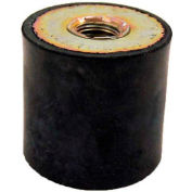 "Vibration Mount, 2 Tapped Holes, 1.18"" Dia, 30mm H, M8 x 1.25 Thread"