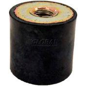 "Vibration Mount, 2 Tapped Holes, 2.36"" Dia, 40mm H, M10 x 1.5 Thread"