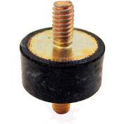 "Vibration Mount, 2 Threaded Studs, 2.00"" Dia, 1.63""H, 3/8-16 Thread"