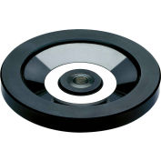 "JW Winco - 520.6-100-B12-A - Solid Disk Handwheel w/o Handle - Stainless Hub - 3.94"" D x 12mm Bore"