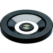"JW Winco - 520.6-100-BLANK - Solid Disk Handwheel w/o Handle - Stainless Hub - 3.94"" D - Solid Hub"