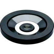 """JW Winco - 520.6-250-K24-A - Solid Disk Handwheel w/o Handle-Stnless Hub-9.84"""" D-24mm Bore & Keyway"""