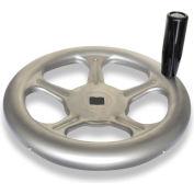 "JW Winco - 7VL84/D - Stainless Spoked Handwheel w/ Rev Handle - 12.40"" Dia x .875"" Square Bore"