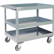"Jamco 3"" Lip 3 Shelf Service Cart LN248 1200 Lb. Capacity 24 x 48"