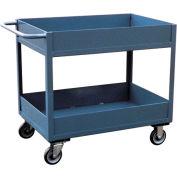 "Jamco 6"" Lip 2 Shelf Service Cart LS230 1200 Lb. Capacity 24 x 30"