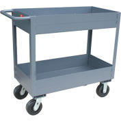"Jamco 6"" Lip 2 Shelf Service Cart NS230 2400 Lb. Capacity 24 x 30"