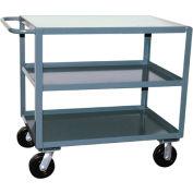Jamco 3 Shelf Service Cart SF460 2400 Lb. Capacity 36 x 60