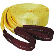 """K-Tool 73810 15,100 Lb. Capacity Tow Strap 20' x 2"""" with Looped Ends"""