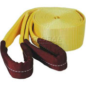 "K-Tool 73811 22,500 Lb. Capacity Tow Strap 20' x 3"" with Looped Ends"