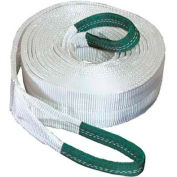 """K-Tool 73813 40,000 Lb. Capacity Tow Strap 30' x 4"""" with Looped Ends"""