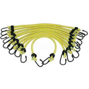 "K-Tool KTI-73830 Bungee Cords General Purpose 3/8"" X 18"" - 10 Pack, Yellow"