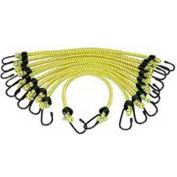 "K-Tool KTI-73831 Bungee Cords General Purpose 3/8"" X 24"" - 10 Pack, Yellow"