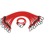 "K-Tool KTI-73834 Bungee Cords Heavy Duty 13/32"" X 48"" - 10 Pack, Assorted Colors"