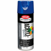 Krylon (5-Ball) Interior-Exterior Paint True Blue (Osha Safety Blue) - K01910 - Pkg Qty 6
