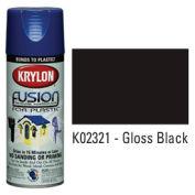 Krylon Fusion For Plastic Paint Gloss Black - K02321 - Pkg Qty 6