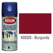Krylon Fusion For Plastic Paint Gloss Burgundy - K02325 - Pkg Qty 6