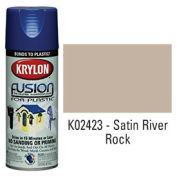 Krylon Fusion For Plastic Paint Satin River Rock - K02423 - Pkg Qty 6