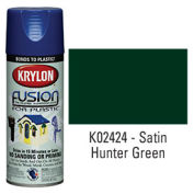 Krylon Fusion For Plastic Paint Satin Hunter Green - K02424 - Pkg Qty 6