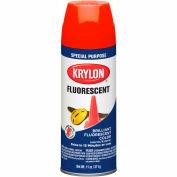 Krylon Fluorescent Indoor/Outdoor Paint Yellow Orange - K03102 - Pkg Qty 6