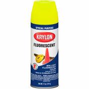 Krylon Fluorescent Indoor/Outdoor Paint Lemon Yellow - K03104 - Pkg Qty 6
