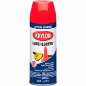 Krylon Fluorescent Indoor/Outdoor Paint Cerise - K03105 - Pkg Qty 6