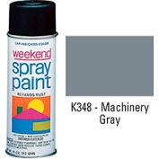 Krylon Industrial Weekend Economy Paint Machinery Gray - K348 - Pkg Qty 6