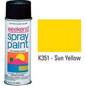 Krylon Industrial Weekend Economy Paint Sun Yellow - K351 - Pkg Qty 6