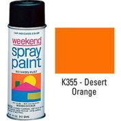 Krylon Industrial Weekend Economy Paint Desert Orange - K355 - Pkg Qty 6
