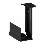 RightAngle™ 202CPU Fixed Under Desk Adjustable CPU Holder, 40 lbs. Capacity, Black