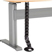 RightAngle™ Flex Cable Management (vertical) for height Adjustable Desk, has 22 links, 1250mm